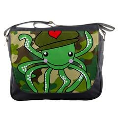Octopus Army Ocean Marine Sea Messenger Bags