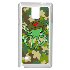 Octopus Army Ocean Marine Sea Samsung Galaxy Note 4 Case (white)