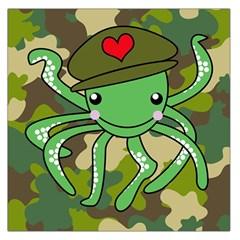 Octopus Army Ocean Marine Sea Large Satin Scarf (square)