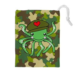 Octopus Army Ocean Marine Sea Drawstring Pouches (extra Large)