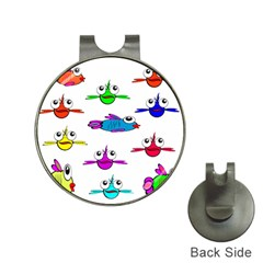 Fish Swim Cartoon Funny Cute Hat Clips With Golf Markers