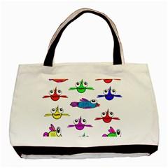 Fish Swim Cartoon Funny Cute Basic Tote Bag (two Sides)