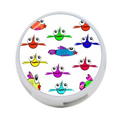 Fish Swim Cartoon Funny Cute 4 Port Usb Hub (one Side)