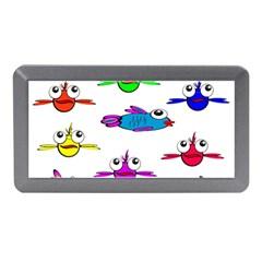 Fish Swim Cartoon Funny Cute Memory Card Reader (mini)