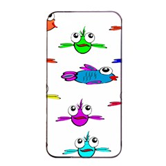Fish Swim Cartoon Funny Cute Apple Iphone 4/4s Seamless Case (black)