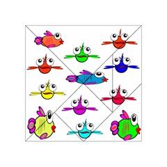 Fish Swim Cartoon Funny Cute Acrylic Tangram Puzzle (4  X 4 )