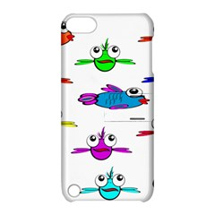 Fish Swim Cartoon Funny Cute Apple Ipod Touch 5 Hardshell Case With Stand
