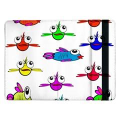 Fish Swim Cartoon Funny Cute Samsung Galaxy Tab Pro 12 2  Flip Case