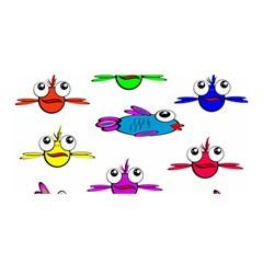 Fish Swim Cartoon Funny Cute Satin Wrap