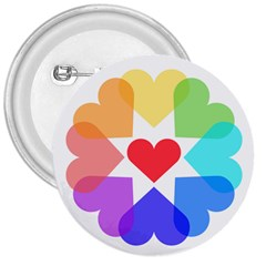 Heart Love Romance Romantic 3  Buttons