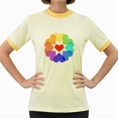 Heart Love Romance Romantic Women s Fitted Ringer T Shirts
