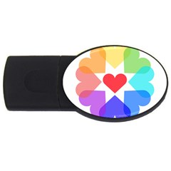 Heart Love Romance Romantic Usb Flash Drive Oval (2 Gb)
