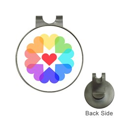 Heart Love Romance Romantic Hat Clips With Golf Markers