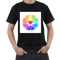 Heart Love Romance Romantic Men s T Shirt (black)