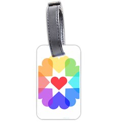 Heart Love Romance Romantic Luggage Tags (one Side)