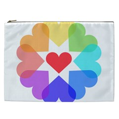 Heart Love Romance Romantic Cosmetic Bag (xxl)