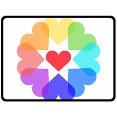 Heart Love Romance Romantic Double Sided Fleece Blanket (large)
