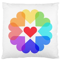 Heart Love Romance Romantic Large Flano Cushion Case (two Sides)