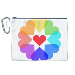 Heart Love Romance Romantic Canvas Cosmetic Bag (xl)