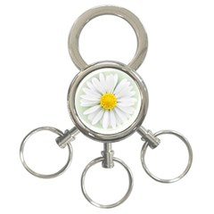 Art Daisy Flower Art Flower Deco 3 Ring Key Chains