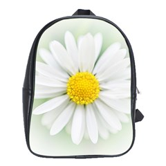 Art Daisy Flower Art Flower Deco School Bag (xl)