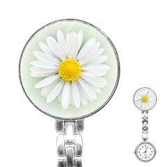 Art Daisy Flower Art Flower Deco Stainless Steel Nurses Watch