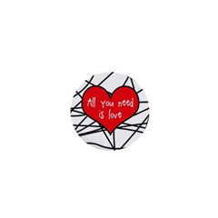 Love Abstract Heart Romance Shape 1  Mini Buttons