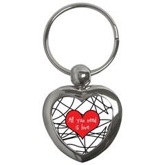 Love Abstract Heart Romance Shape Key Chains (heart)