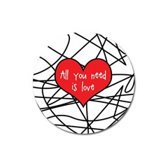 Love Abstract Heart Romance Shape Magnet 3  (round)