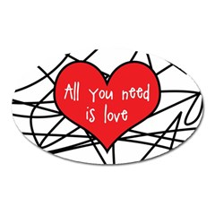 Love Abstract Heart Romance Shape Oval Magnet