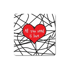 Love Abstract Heart Romance Shape Square Magnet