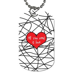 Love Abstract Heart Romance Shape Dog Tag (two Sides)