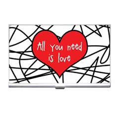 Love Abstract Heart Romance Shape Business Card Holders