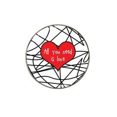 Love Abstract Heart Romance Shape Hat Clip Ball Marker