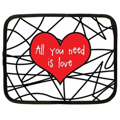 Love Abstract Heart Romance Shape Netbook Case (large)