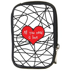 Love Abstract Heart Romance Shape Compact Camera Cases