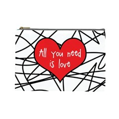 Love Abstract Heart Romance Shape Cosmetic Bag (large)