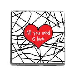 Love Abstract Heart Romance Shape Memory Card Reader (square)