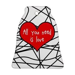 Love Abstract Heart Romance Shape Ornament (bell)