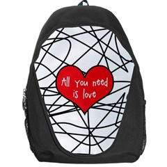 Love Abstract Heart Romance Shape Backpack Bag