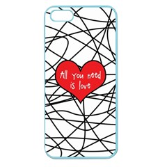 Love Abstract Heart Romance Shape Apple Seamless Iphone 5 Case (color)