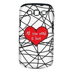 Love Abstract Heart Romance Shape Samsung Galaxy S Iii Classic Hardshell Case (pc+silicone)