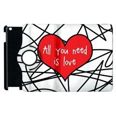 Love Abstract Heart Romance Shape Apple Ipad 3/4 Flip 360 Case