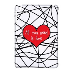 Love Abstract Heart Romance Shape Apple Ipad Mini Hardshell Case (compatible With Smart Cover)