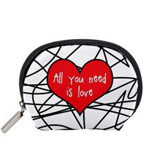 Love Abstract Heart Romance Shape Accessory Pouches (small)