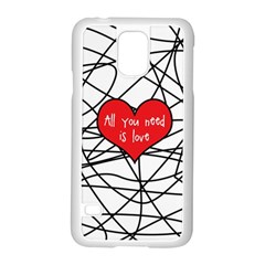 Love Abstract Heart Romance Shape Samsung Galaxy S5 Case (white)