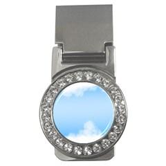 Sky Cloud Blue Texture Money Clips (cz)