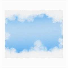 Sky Cloud Blue Texture Small Glasses Cloth (2 Side)
