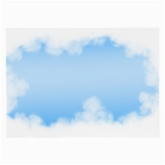 Sky Cloud Blue Texture Large Glasses Cloth