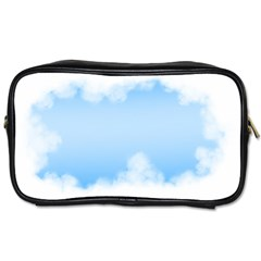 Sky Cloud Blue Texture Toiletries Bags